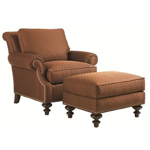 Lexington Lexington Upholstery Darby Chair and Ottoman