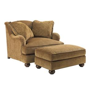 Lexington Lexington Upholstery Laurel Canyon Chair and Matching Ottoman