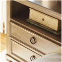 Lexington Monterey Sands Berkeley Two-Drawer Nightstand - Simple Ring Hardware Adds a Timeless Look with its Burnished Antique Bronze Finish.