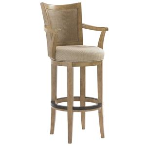Lexington Monterey Sands <b>Customizable</b> Carmel Swivel Bar Stool