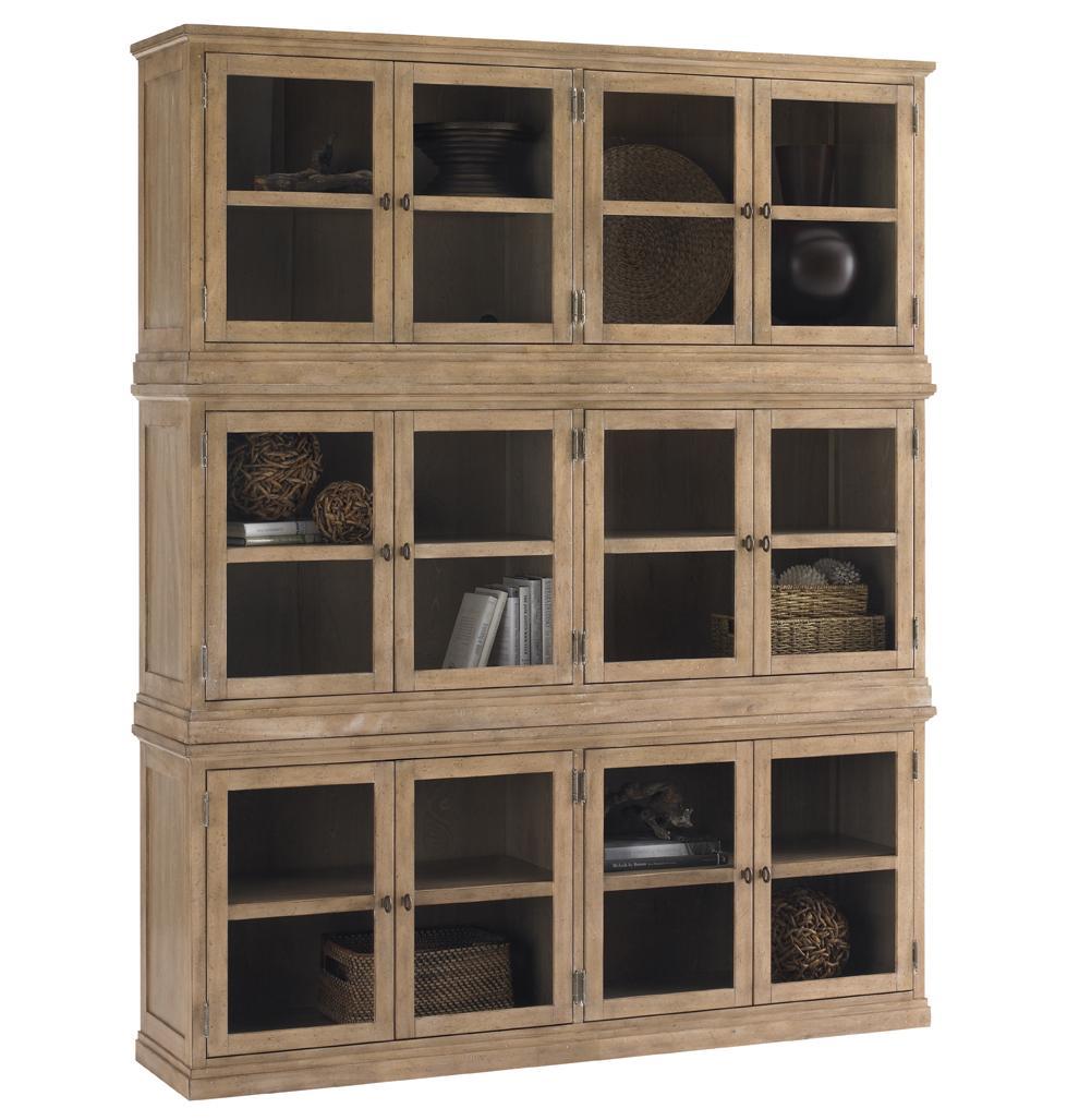Sausalito Glass Door Stacked Curio Cabinet