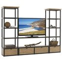 Lexington Monterey Sands Camino Real Media Wall Unit - Item Number: 830-990B+990S+2x990