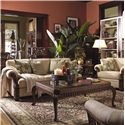 Lexington Quick Ship Upholstery Quick Ship Benoa Harbour Sofa with Exposed Wood Accents