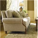 Lexington Quick Ship Upholstery Quick Ship West Shore Sofa with Exposed Wood Accents - Room Setting