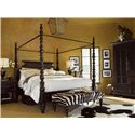 Tommy Bahama Home Kingstown King-Size Sovereign Poster Bed with Canopy - Bed Shown May Not Represent Size Indicated - Bench Shown is No Longer Available by the Manufacturer