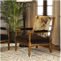 Tommy Bahama Home Kingstown Maarten Chair with Padded Arms - Shown in Room Setting with Customized Look