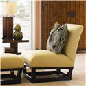 Tommy Bahama Home Ocean Club Fusion Ottoman with Contemporary Frame Base - Shown with St. Lucia Sofa, Lagoon Lamp Tables, Sea Glass Buffet, and Reflections Mirror