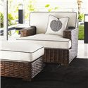 Tommy Bahama Home Ocean Club Woven Split Rattan Salina Ottoman - Shown with Salina Chair
