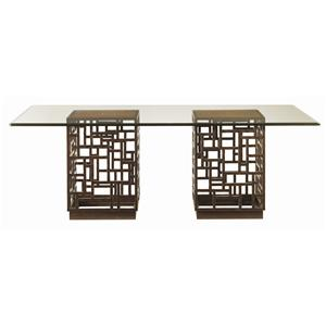 South Sea Rectangular Glass Top Table