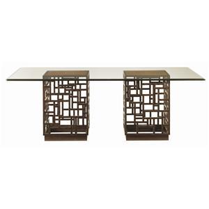South Sea Rectangular Glass Top Table
