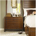 Tommy Bahama Home Ocean Club Three Drawer Coral Nightstand - Shown with Marquesa Bed and Palm Isle Mirror