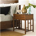 Tommy Bahama Home Ocean Club One Drawer Finished Back Kaloa Nightstand - Shown with Paradise Point Bed