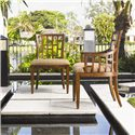 Tommy Bahama Home Ocean Club <b>Customizable</b> Lanai Side Chair with Geometric Pattern - Shown with Lanai Arm Chair