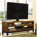 Tommy Bahama Home Ocean Club Pacifica Entertainment Console with Five Shelves - Five Shelves