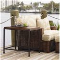 Tommy Bahama Home Ocean Club Crushed Bamboo & Distressed Metal Ocean Reef End Table - Shown with Salina Chair and Ottoman