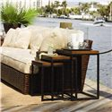 Tommy Bahama Home Ocean Club Crushed Bamboo & Distressed Metal Ocean Reef Nesting Tables - Shown with Salina Sofa