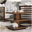 Tommy Bahama Home Ocean Club Lagoon Lamp Table with Two Shelves - Shown with St. Lucia Sofas