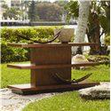 Tommy Bahama Home Ocean Club Two Shelf Lagoon Sofa Table
