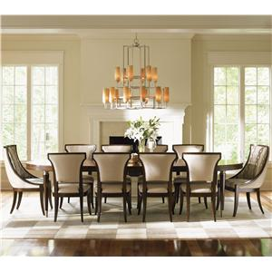 11 Piece Dining Set with Host Chairs