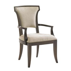 Seneca Arm Chair w/ Married Fabric