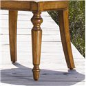 Lexington Twilight Bay <b>Customizable</b> Byerly Oval Back Side Chair - Two Front Turned Legs are Classic and Elegant