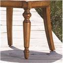 Lexington Twilight Bay <b>Customizable</b> Byerly Oval Back Arm Chair - Two Front Turned Legs are Classic and Elegant