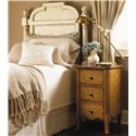 Lexington Twilight Bay King-Size Hathaway Panel Headboard - Shown with Harper Nightstand in Chestnut Finish