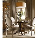 Lexington Twilight Bay <b>Customizable</b> Byerly Oval Back Side Chair - Shown with Barrett Dining Table and Pierpoint Display Cabinet, Both in Chestnut Finish