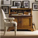 Lexington Twilight Bay <b>Customizable</b> Byerly Oval Back Arm Chair - Shown with Colette Secretary in Chestnut Finish