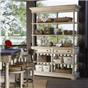 Lexington Twilight Bay Merideth Console & Hutch - Shown with Dalton Counter Stools and Shelter Island Bistro Table