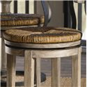 Lexington Twilight Bay Dalton Counter Stool - Round Hand-Woven Rush Swivel Seat