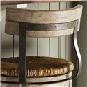 Lexington Twilight Bay Dalton Bar Stool - Concave Wood Back with Metal Serpentine Vertical Supports