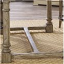 Lexington Twilight Bay Shelter Island Bistro Table - A Base Stretchers Adds Support and Visual Interest to the Piece