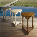 Lexington Twilight Bay Bailey Chairside Table - Available in Three Finishes: Driftwood (left), Antique Linen (center), and Chestnut (right)