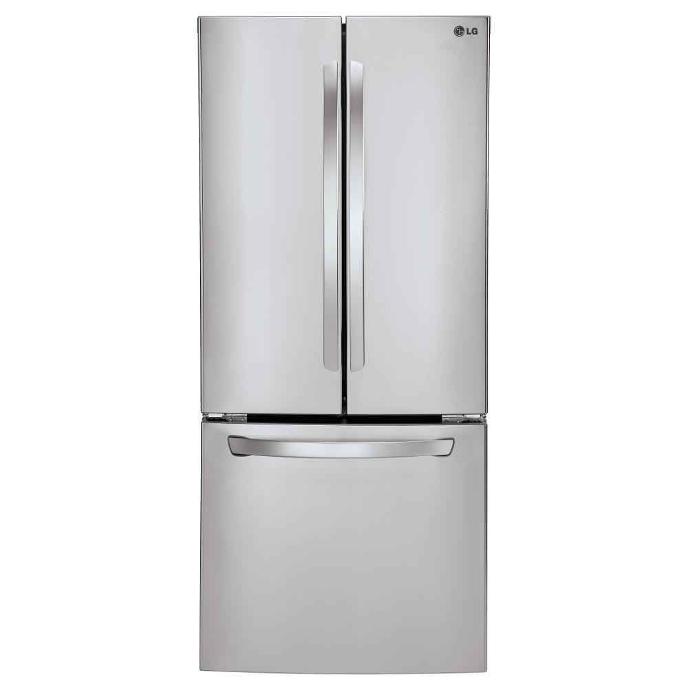 LG Appliances Bottom Freezer Refrigerators 28 Cu.Ft. Large Capacity Refrigerator - Item Number: LFC22770ST