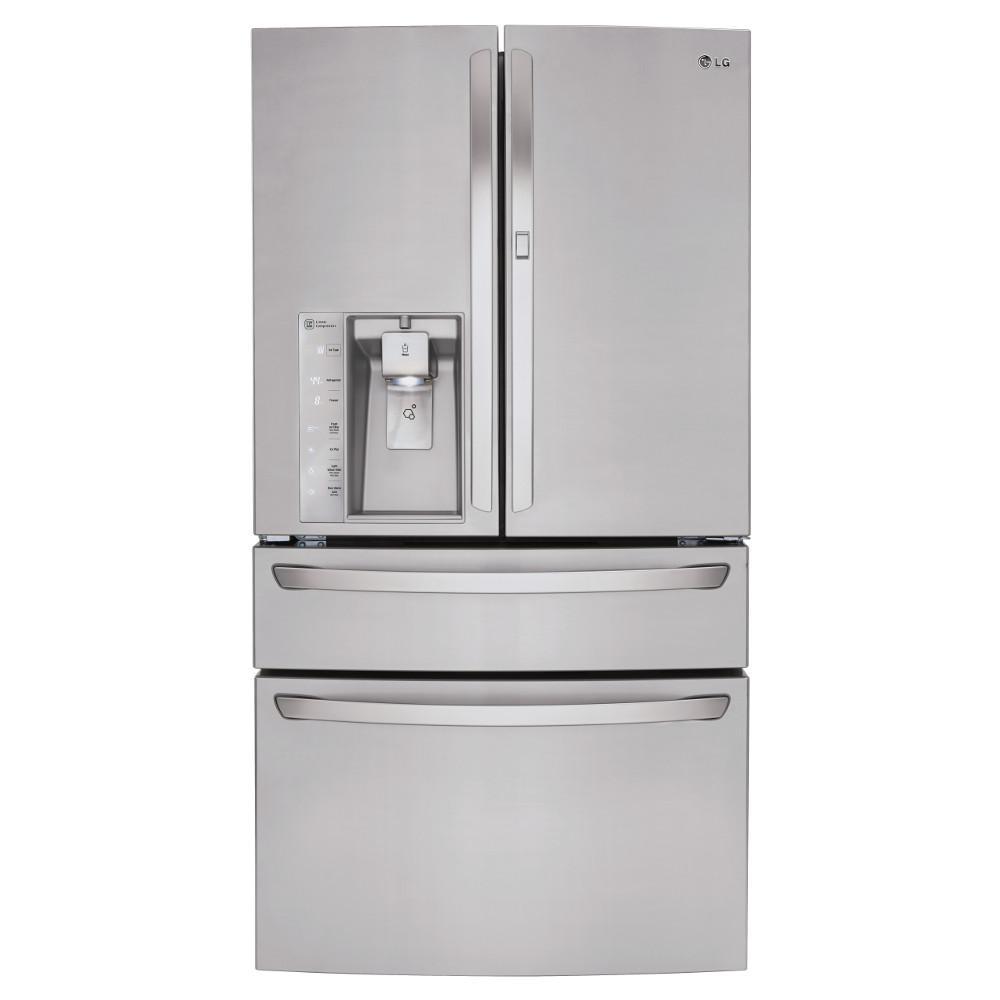 LG Appliances Bottom Freezer Refrigerators 30 Cu.Ft. Super Capacity Refrigerator - Item Number: LMXS30776S