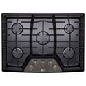 "LG Appliances Cooktops 30"" Built-In Gas Cooktop - Item Number: LCG3011BD"