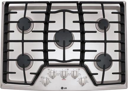 "LG Appliances Cooktops 30"" Built-In Gas Cooktop - Item Number: LCG3011ST"