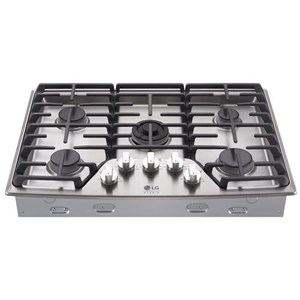 "LG Appliances Cooktops LG Studio - 30"" Gas Cooktop"