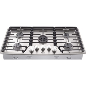 "LG Appliances Cooktops LG Studio - 36"" Gas Cooktop"