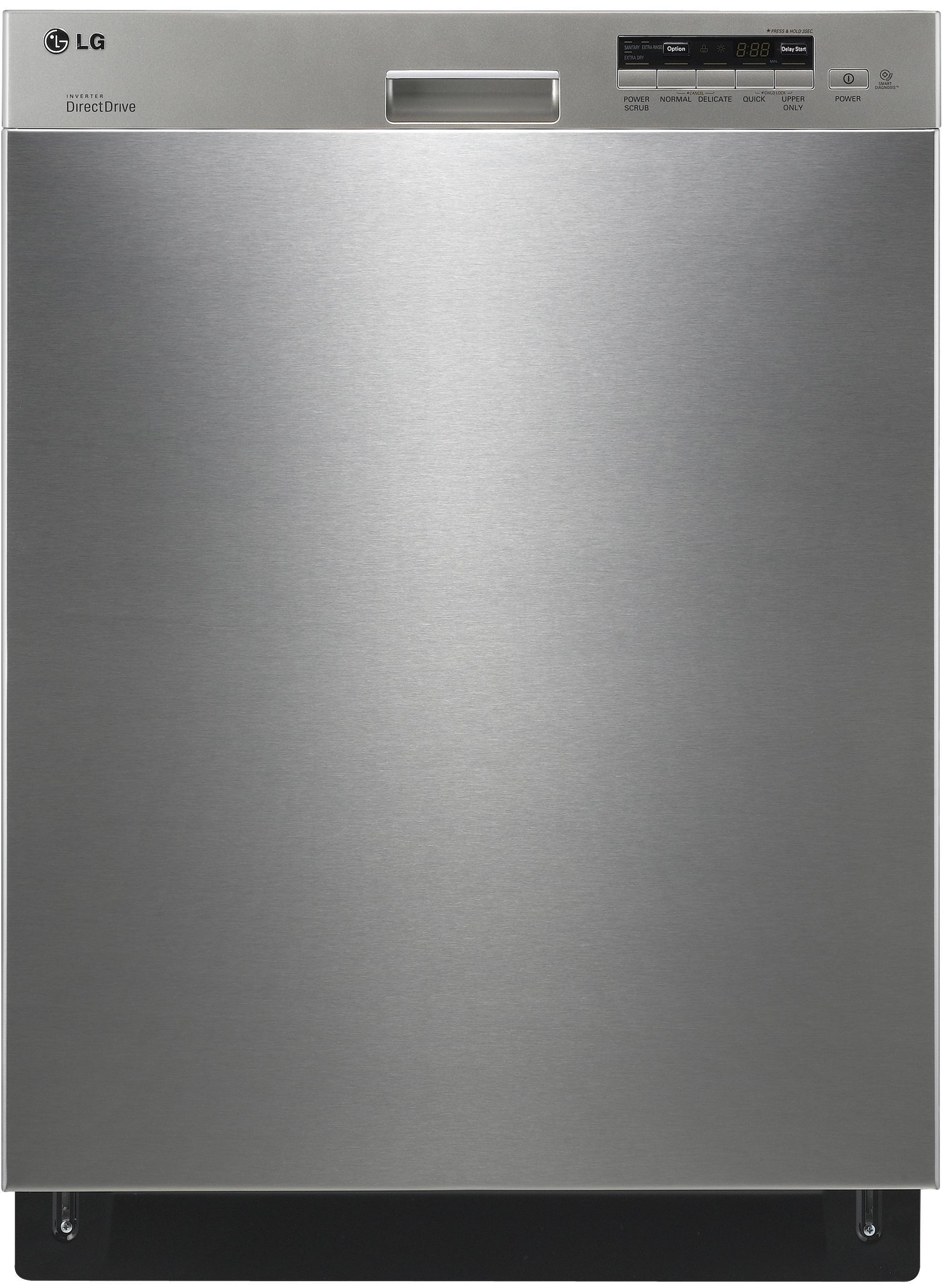 """LG Appliances Dishwashers 24"""" Built-In Dishwasher - Item Number: LDS5040ST"""