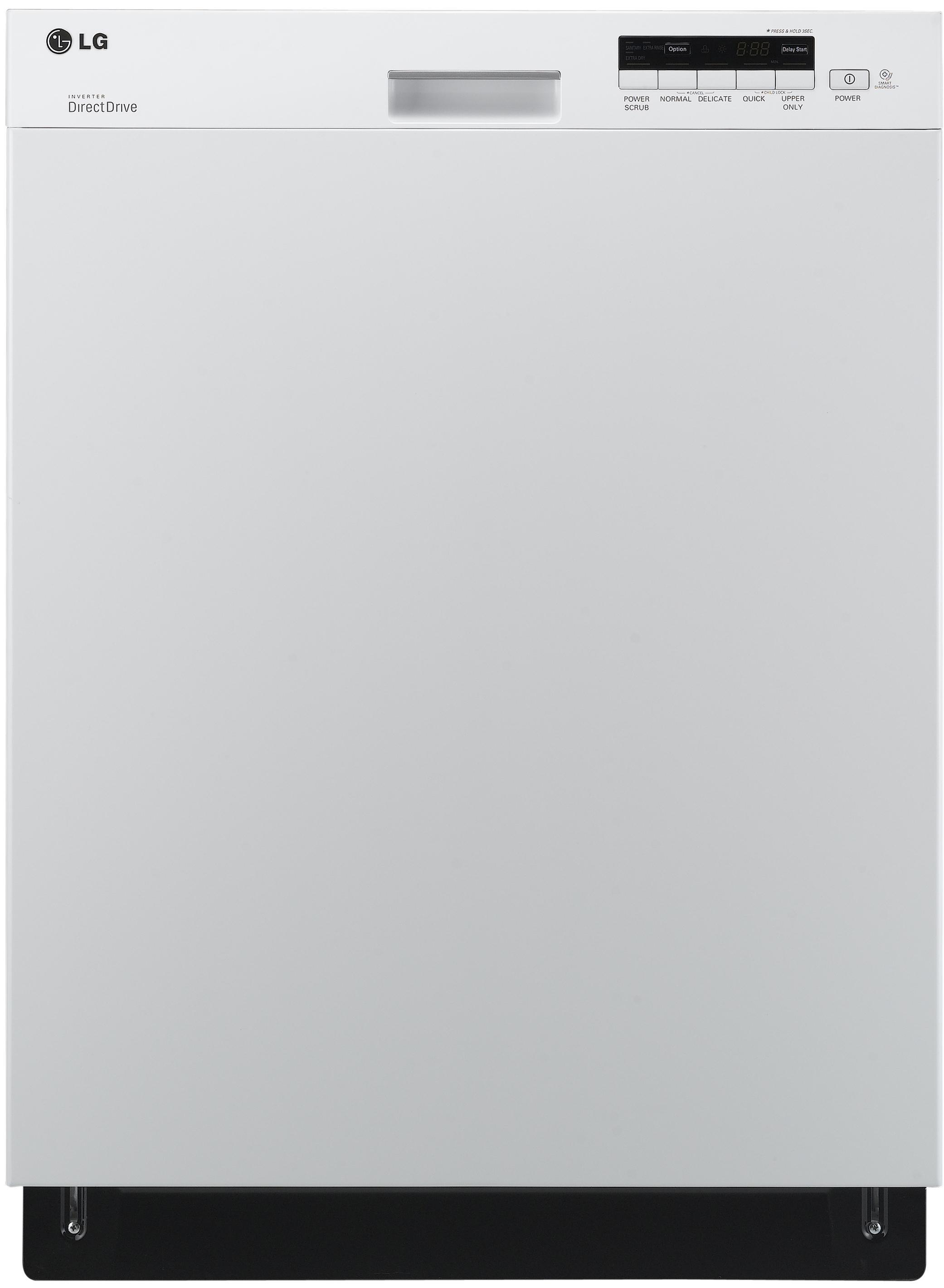 "LG Appliances Dishwashers 24"" Built-In Dishwasher - Item Number: LDS5040WW"