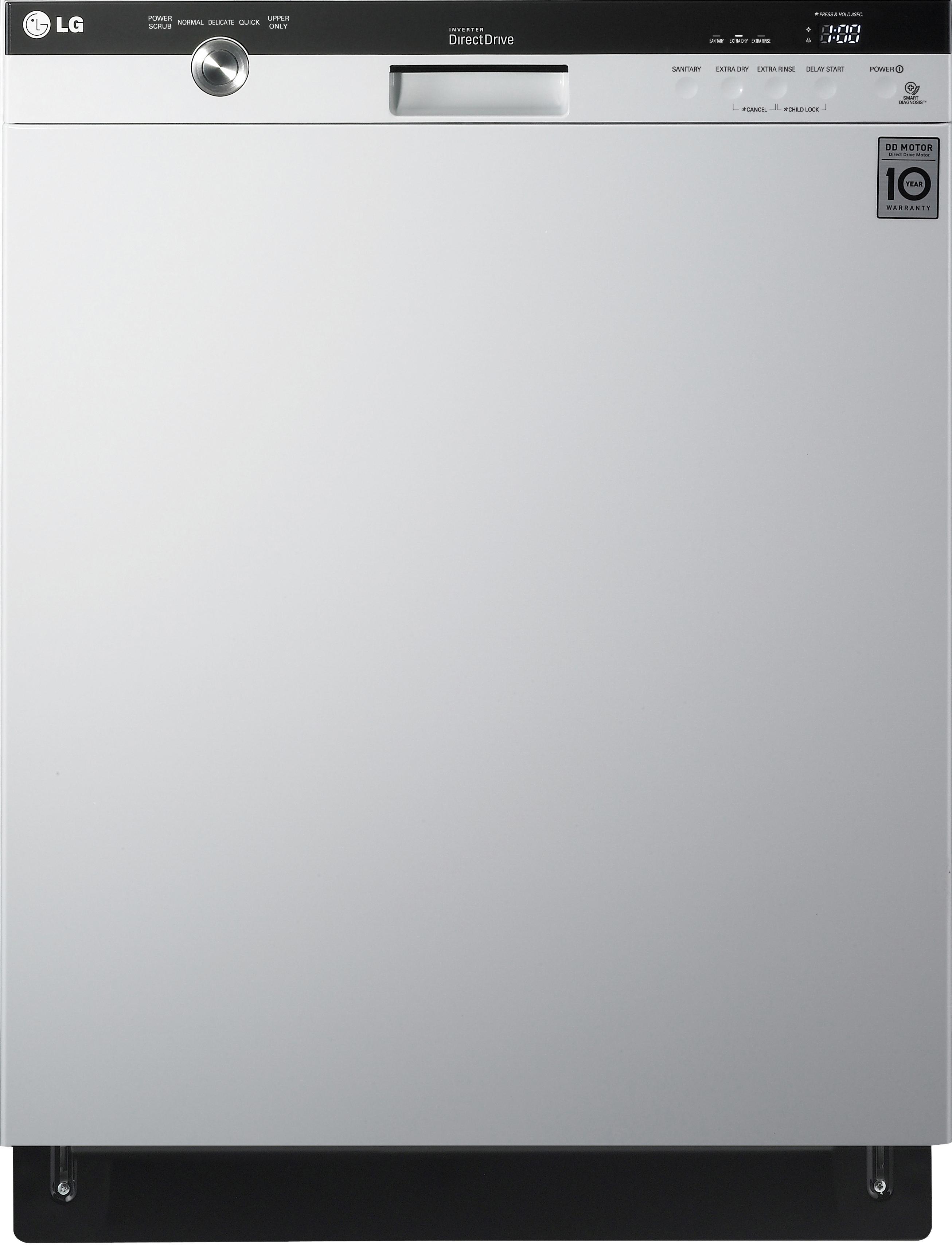 "LG Appliances Dishwashers 24"" Built-In Dishwasher - Item Number: LDS5540WW"