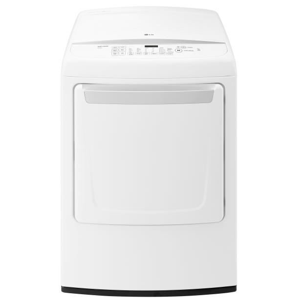 LG Appliances Dryers 7.3 Cu. Ft. Capacity Electric Dryer - Item Number: DLE1501W