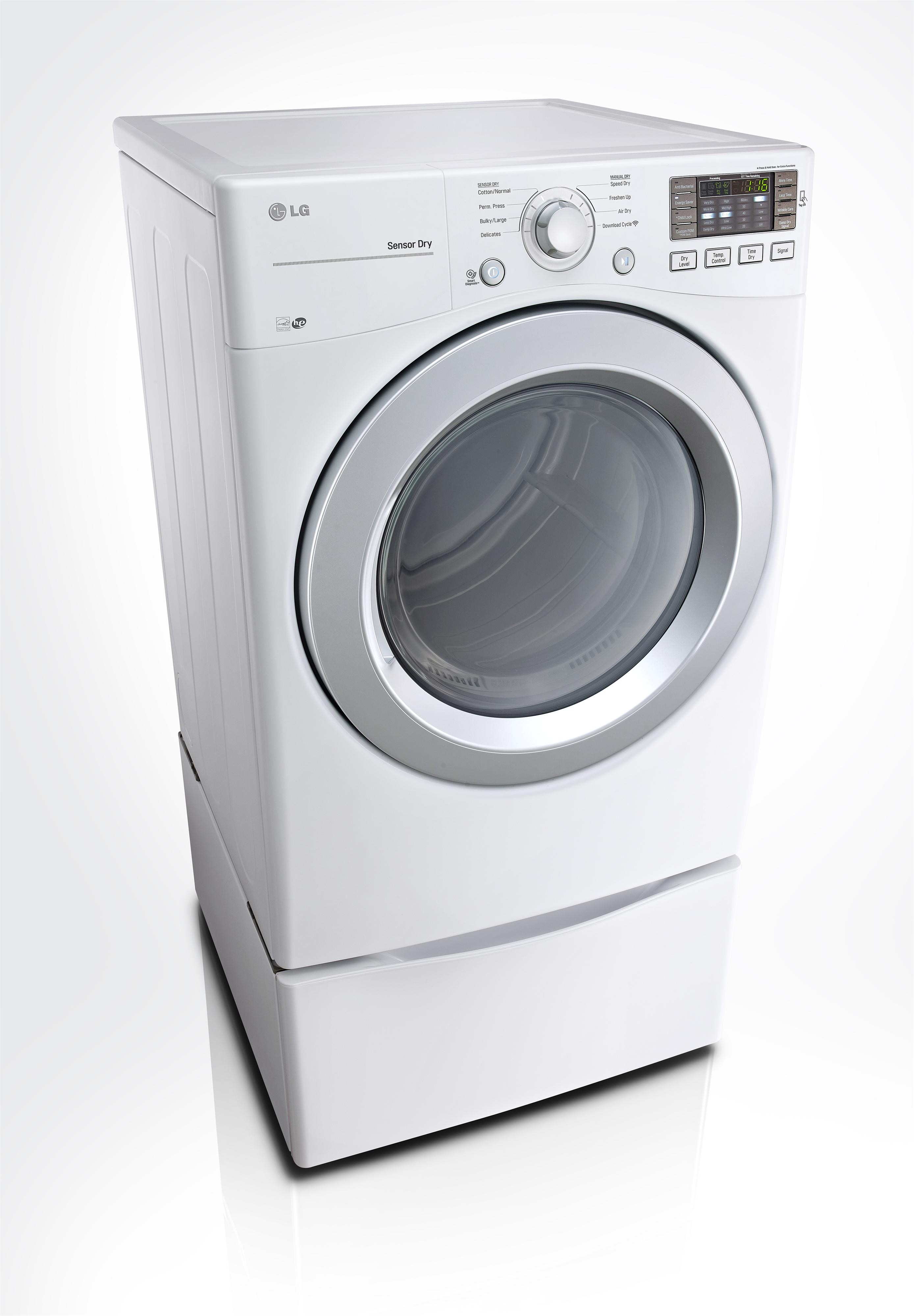 LG Appliances Dryers 7.4 cu. ft. Front Load Electric Dryer - Item Number: DLE3170W