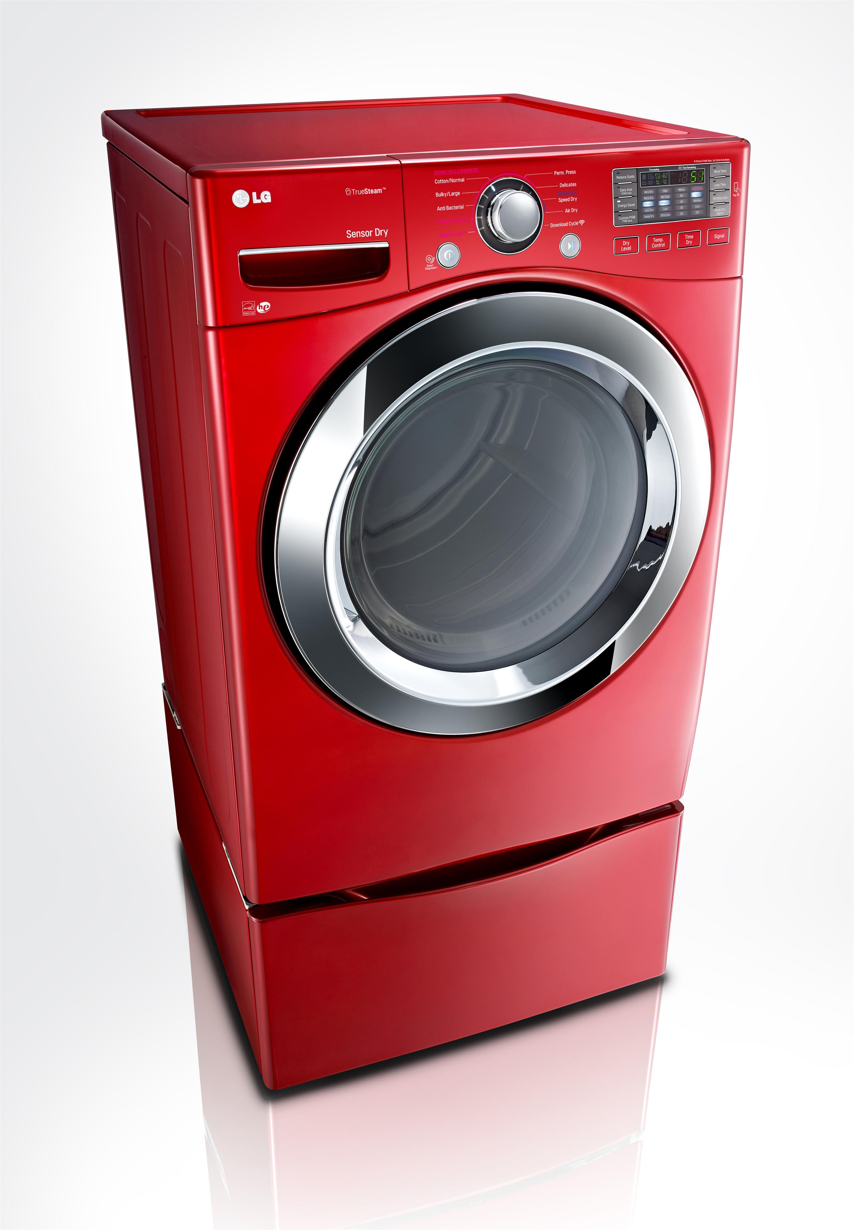 LG Appliances Dryers 7.4 cu. ft. Front Load Electric Dryer - Item Number: DLEX3370R
