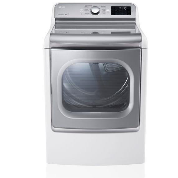 LG Appliances Dryers 9.0 Cu. Ft. Capacity Electric Steam Dryer - Item Number: DLEX7700WE