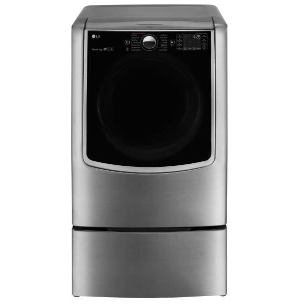 LG Appliances Dryers 9.0 Cu. Ft. Capacity TurboSteam® Electric Dr - Item Number: DLEX9000V