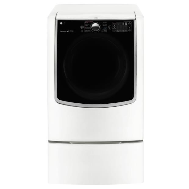 LG Appliances Dryers 9.0 Cu. Ft. Capacity TurboSteam® Electric Dr - Item Number: DLEX9000W