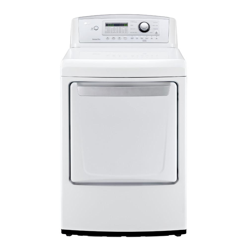 LG Appliances Dryers 7.3 Cu. Ft. Front Load Dryer - Item Number: DLG4971W